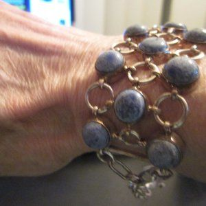 Jewelry - Silver and Denim Lapis bracelet